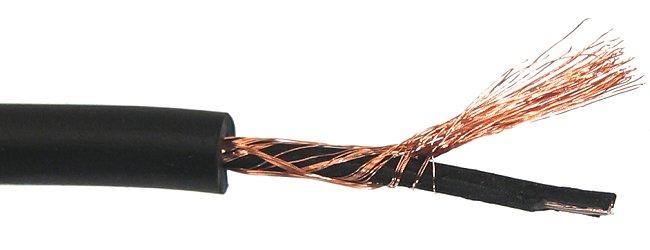 Kabel mikrofonowy okrągły 1-żyłowy - 1 metr