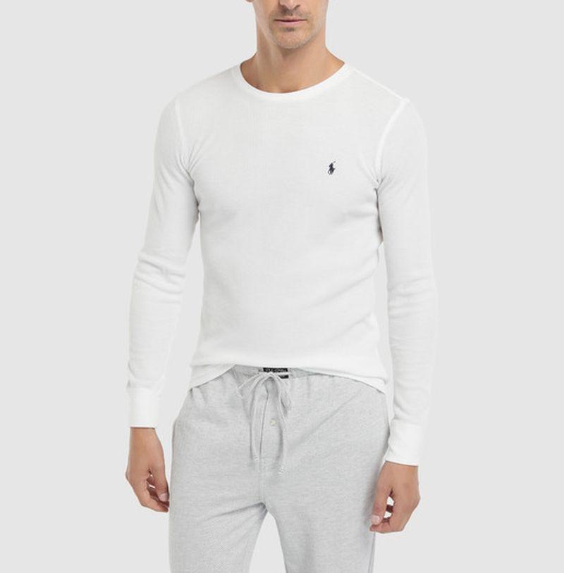 Ralph Lauren Polo Koszulka Męska Bawełna Biała M