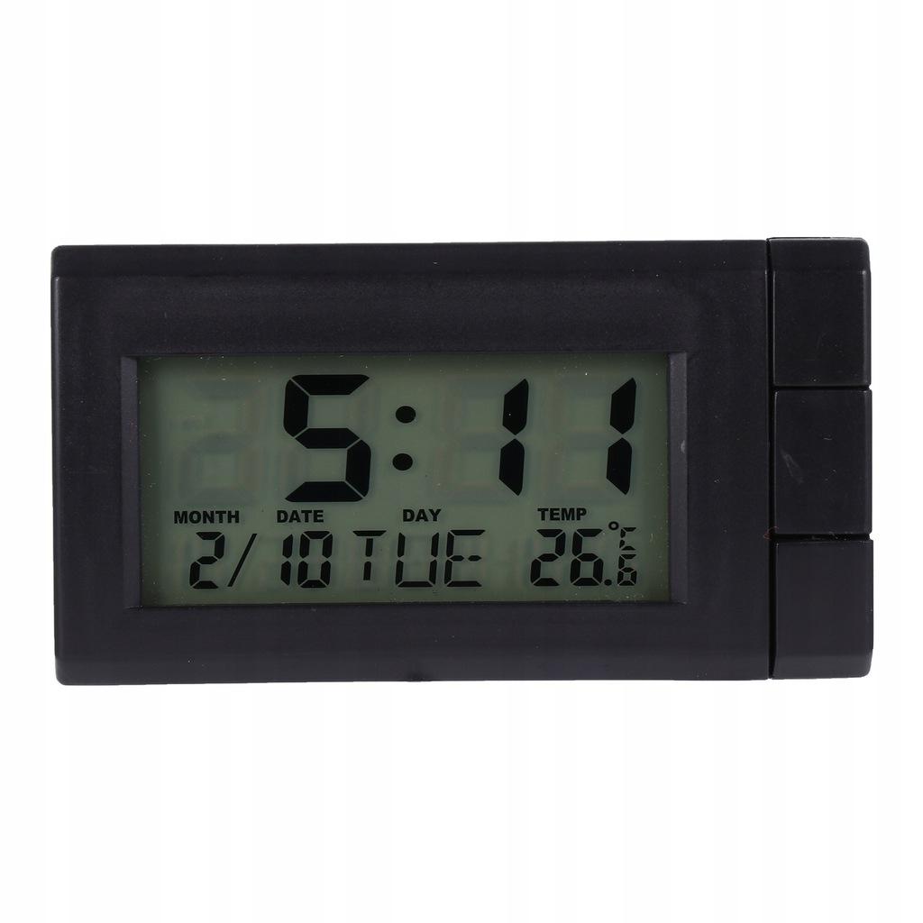 1 szt samochód elektroniczny zegar termometr samoc