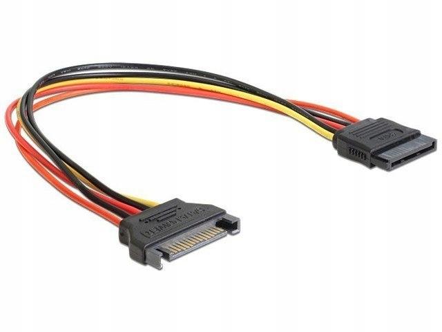 Kabel SATA zasilający (M) -> SATA (F) 15PIN 50c