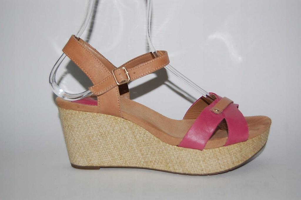 CLARKS sandały , skóra , EU 38,5 /UK 5,5 PIĘKNE