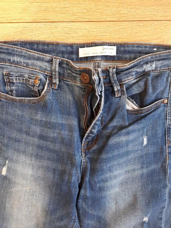 jeansy stradivarius dziury M