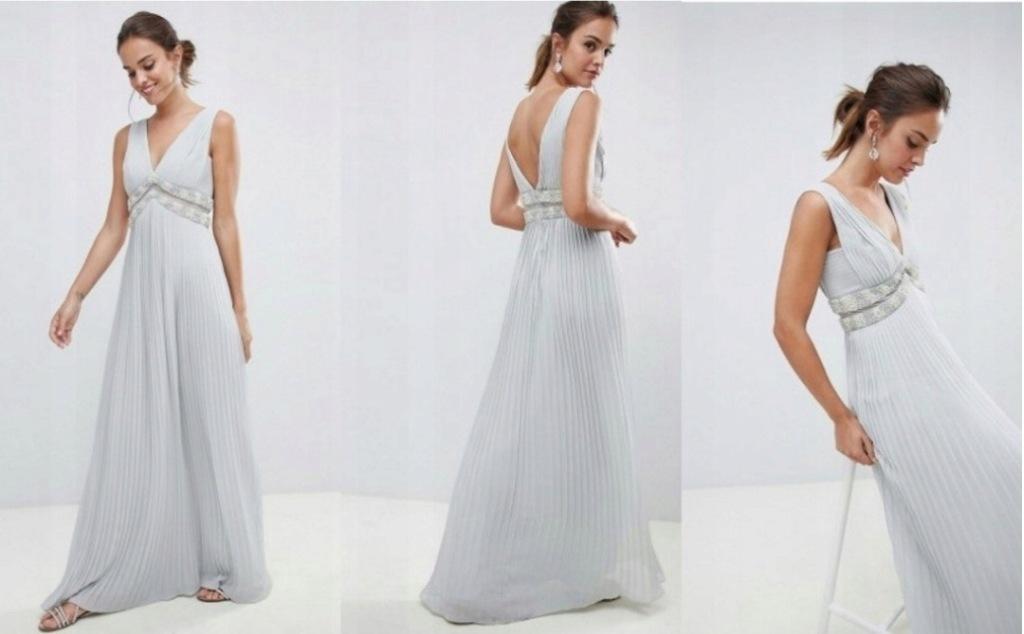 ASOS Sukienka maxi plisowana M 38