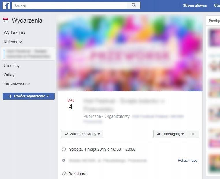 Organizacja Wydarzeń Facebook