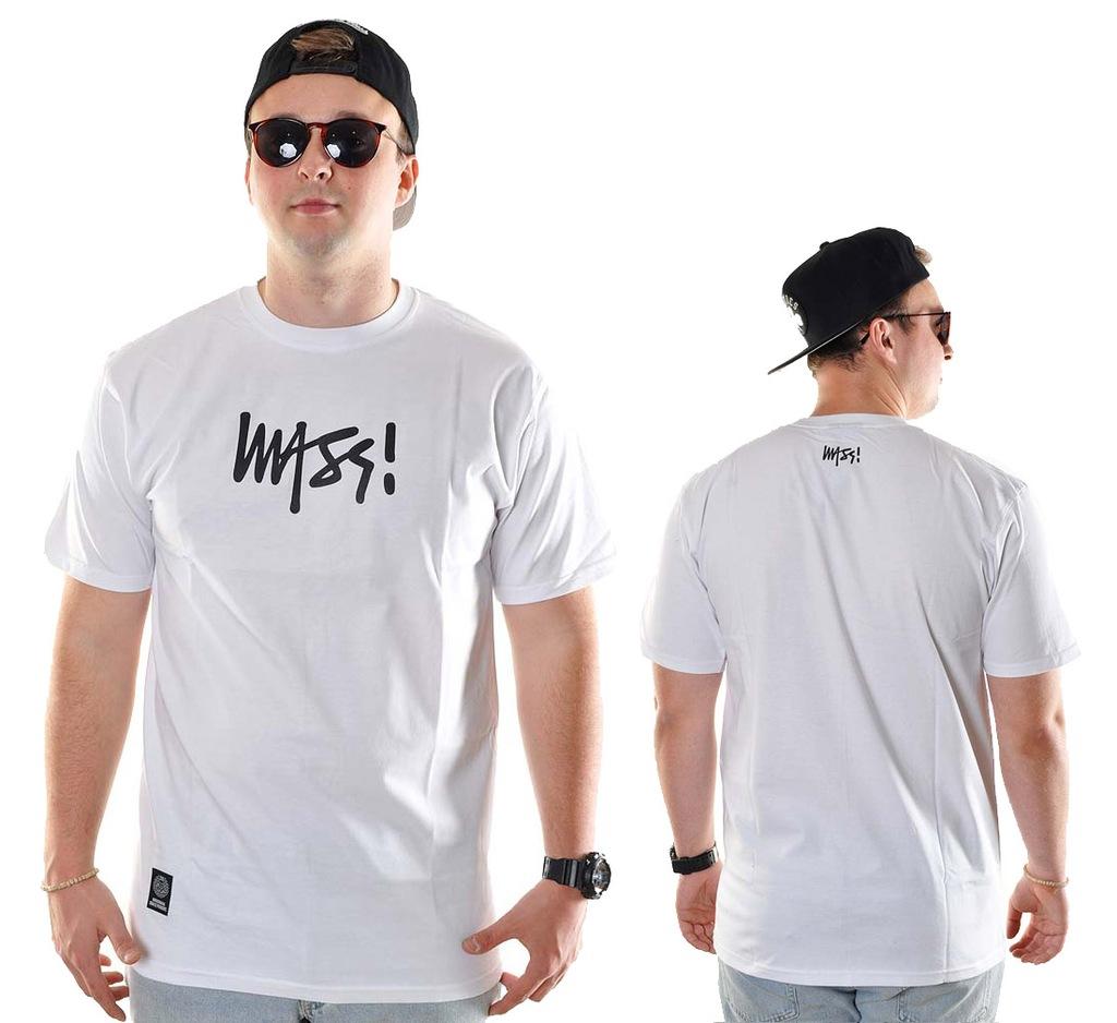 Koszulka L Mass Denim Half Signature biała