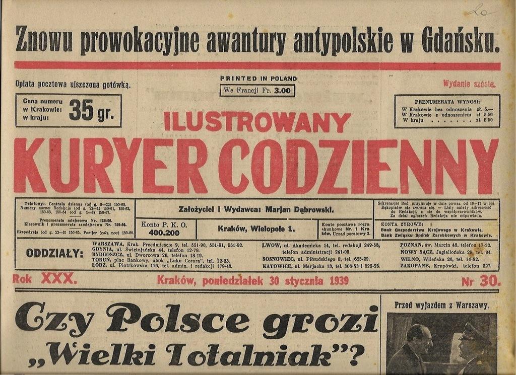 IKC 1939 30 Żydzi Judaika Limanowa Ostrów Zakopane