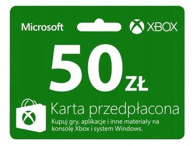 XBOX LIVE 50 ZŁ KOD