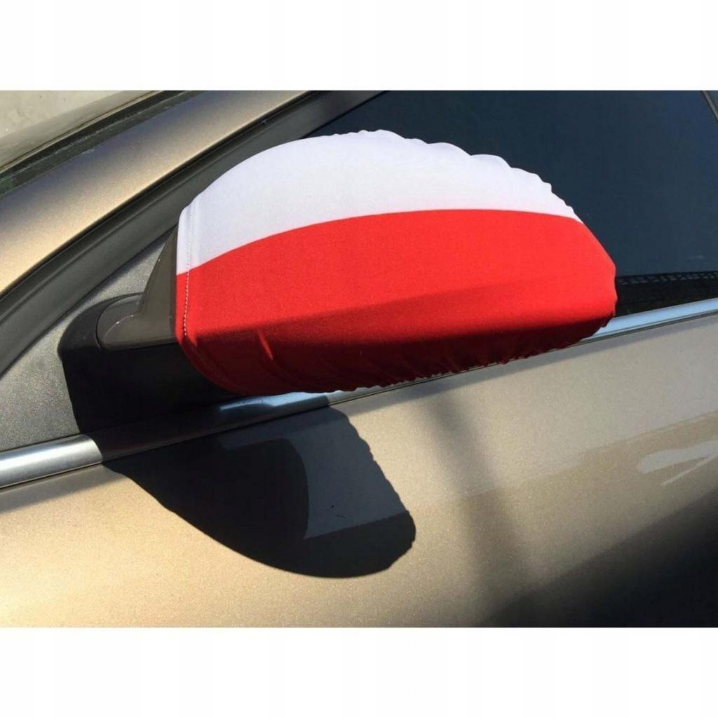 Flaga Samochodowa Na Lusterka Polska