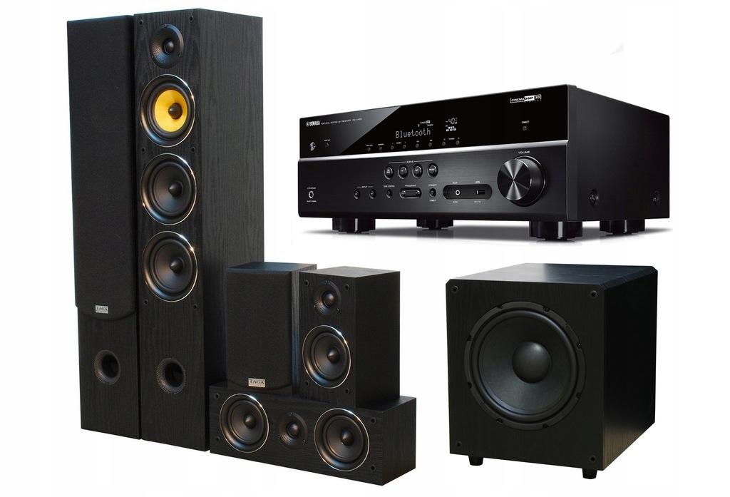 YAMAHA RX-D485 + TAGA TAV-506 v2 BLACK + TSW-90 v4