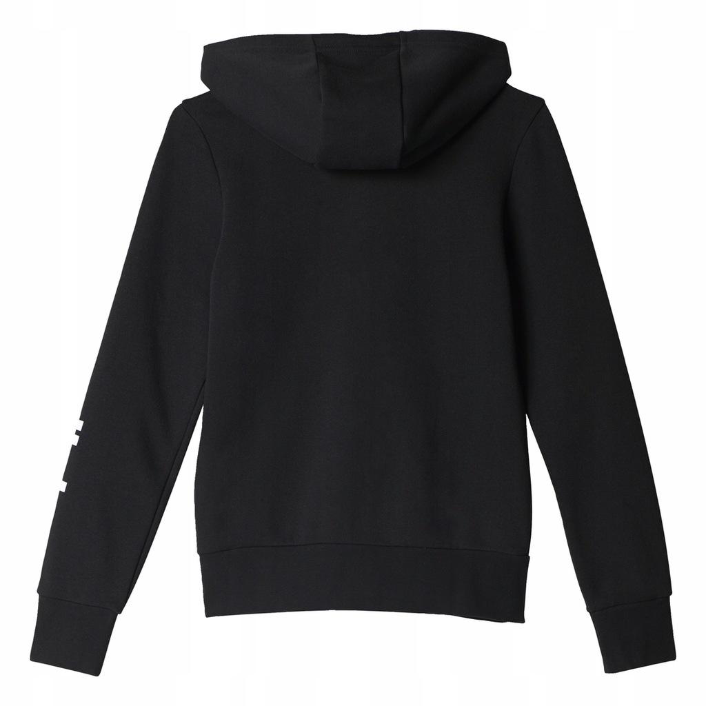 bluza adidas 146 czarna dla dziewczyn