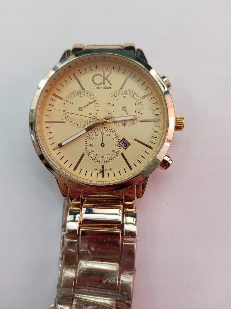 Złoty męski zegarek Calvin Klein