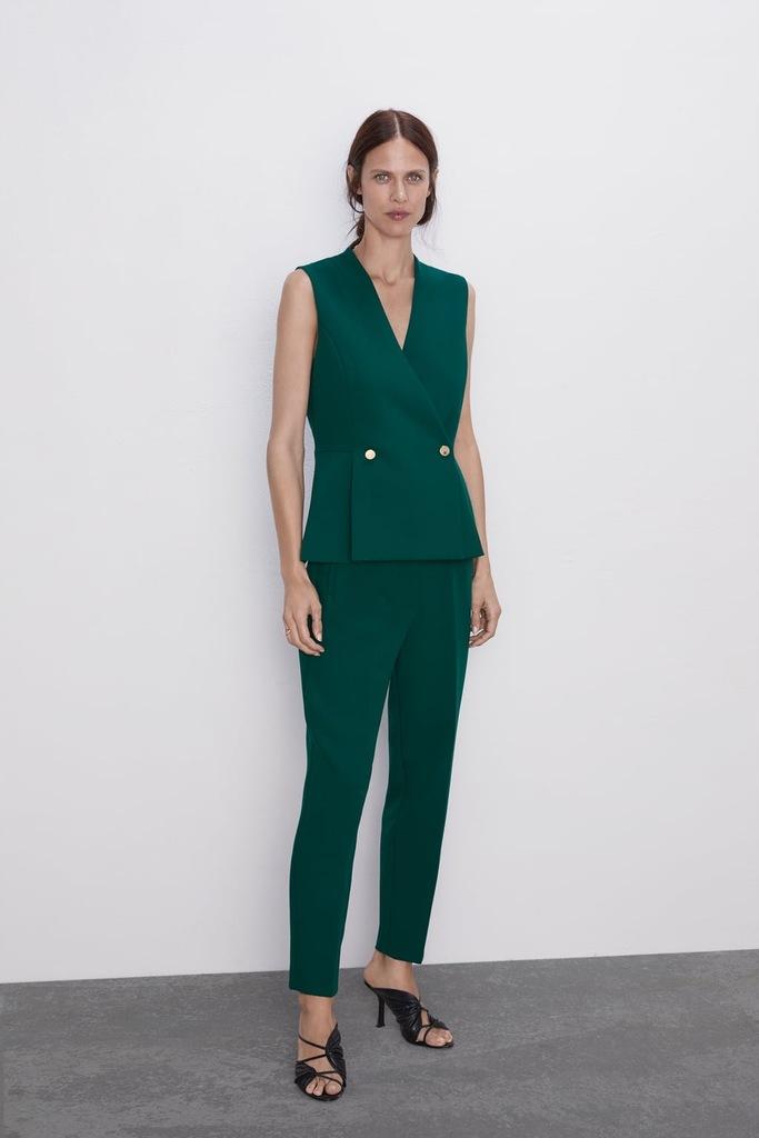 Zara garnitur komplet kamizelka spodnie XS 34
