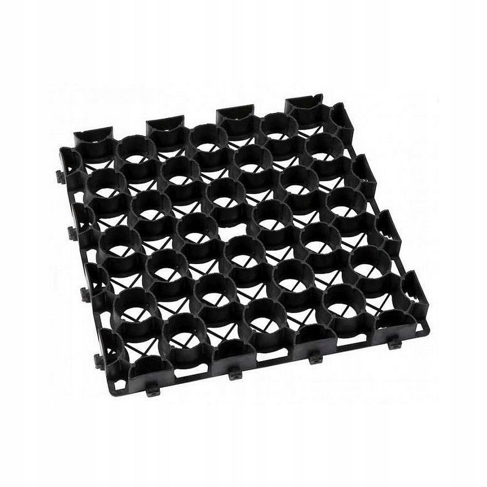 Kratka trawnikowa czarna 395mm x 395mm h 50mm