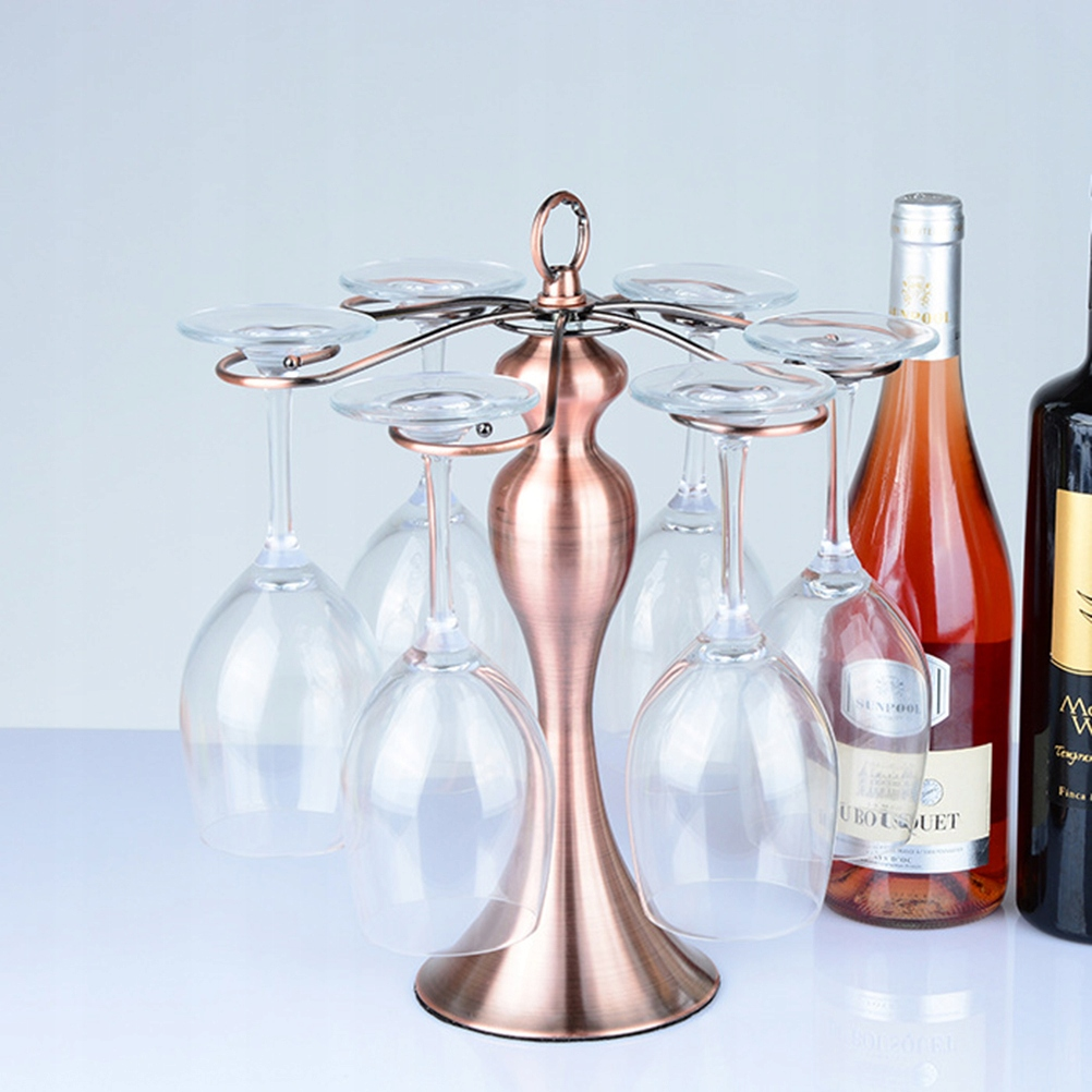Classic Stainless Steel Wine Glass Cup Holder with