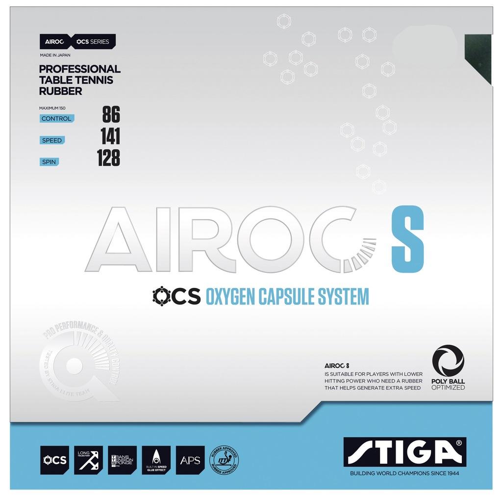 Okładzina STIGA AIROC S 1,7 czarna, Tenis stołowy