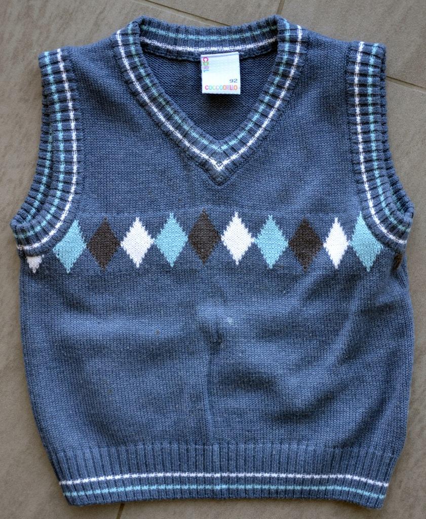 sweterek kamizelka chłopięca Coccodrillo 92-98