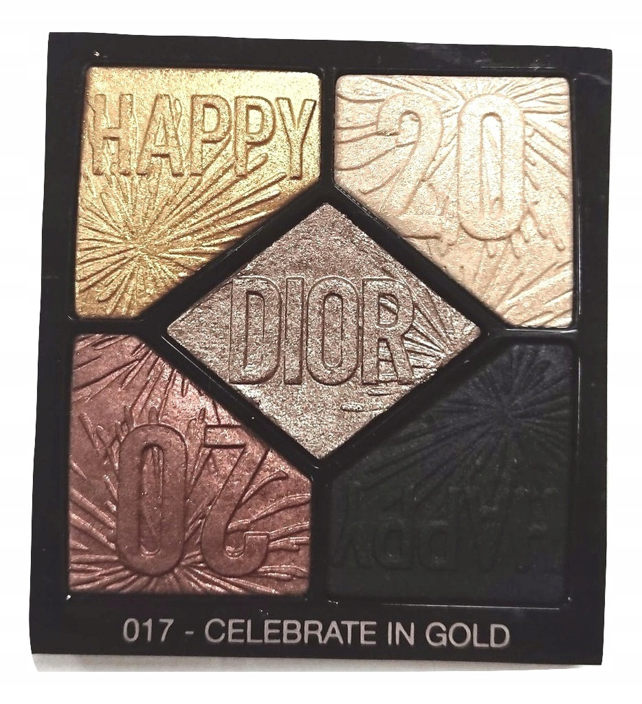 PALETA CIENI DO POWIEK DIOR 017 CELEBRATE IN GOLD