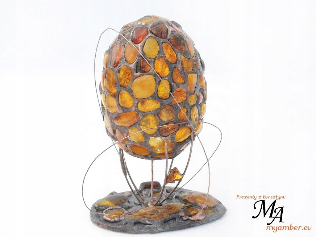 Bursztynowe JAJKO Tiffany Faberge Witraż Bursztyn