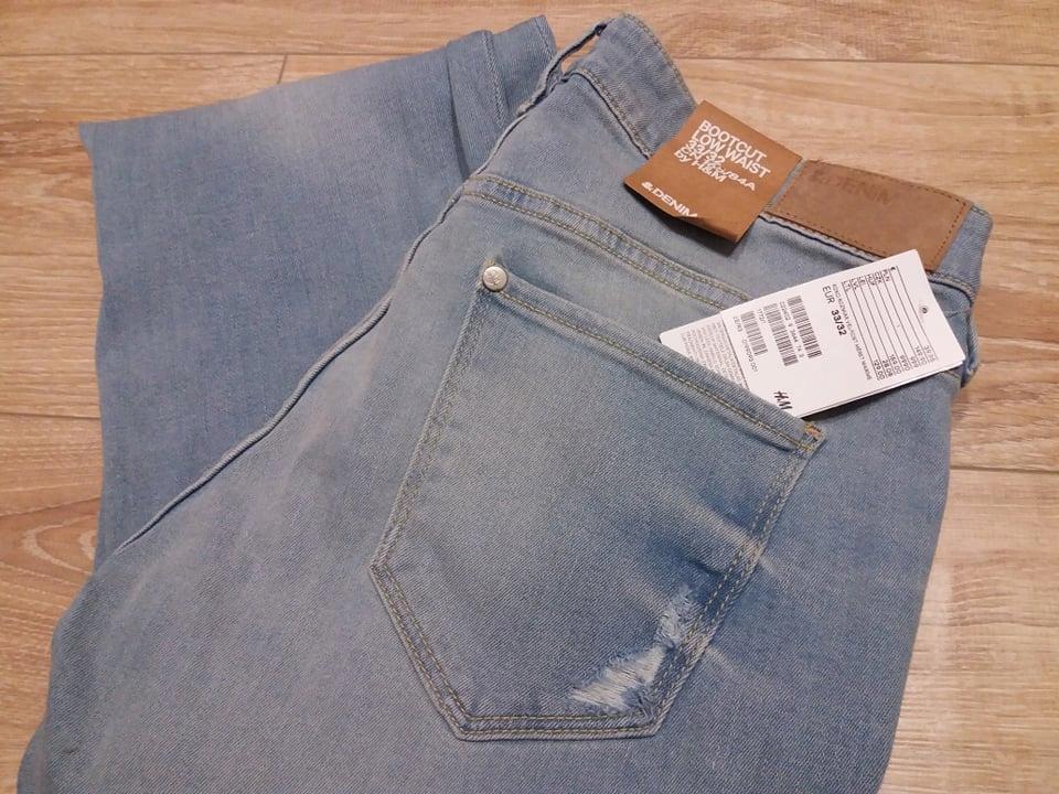 Spodnie bootcut jeans firmy h&m rozm 33/32
