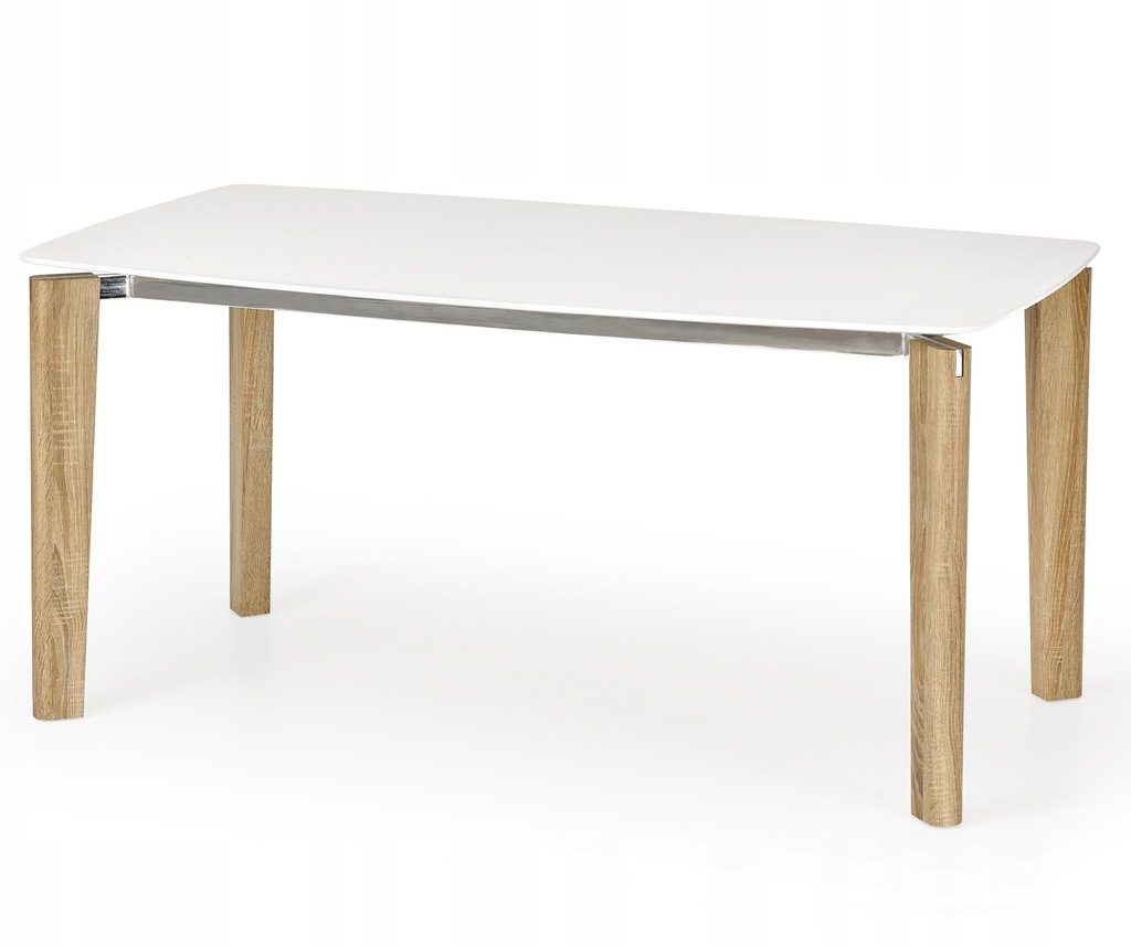 Stół WEBER 160 cm biały / dąb sonoma HALMAR