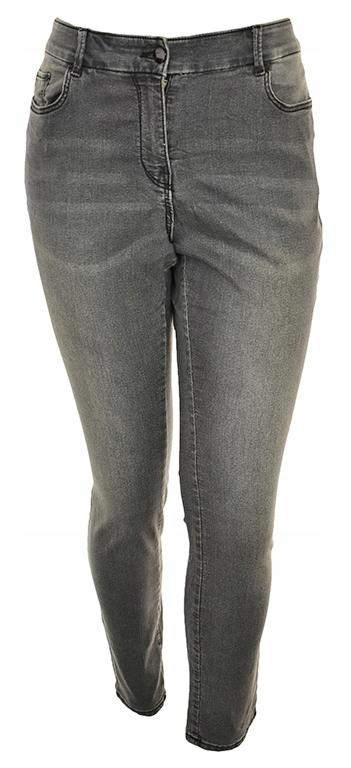 pBH7535 H&M szare klasyczne jeansy slim 46