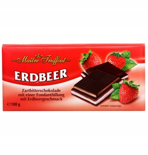 Maitre Truffout czekolada truskawkowa 100 g