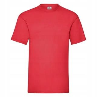 koszulka T-shirt męski krótki rękaw - CZERWONY; M