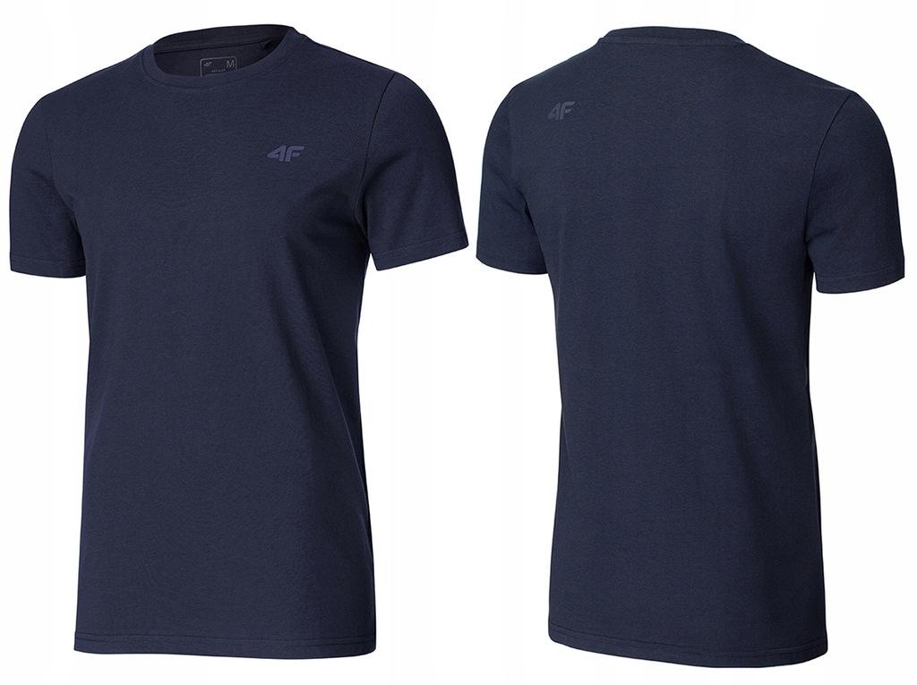 4F T-shirt KOSZULKA Męska TSM003 Bawełna Granat M