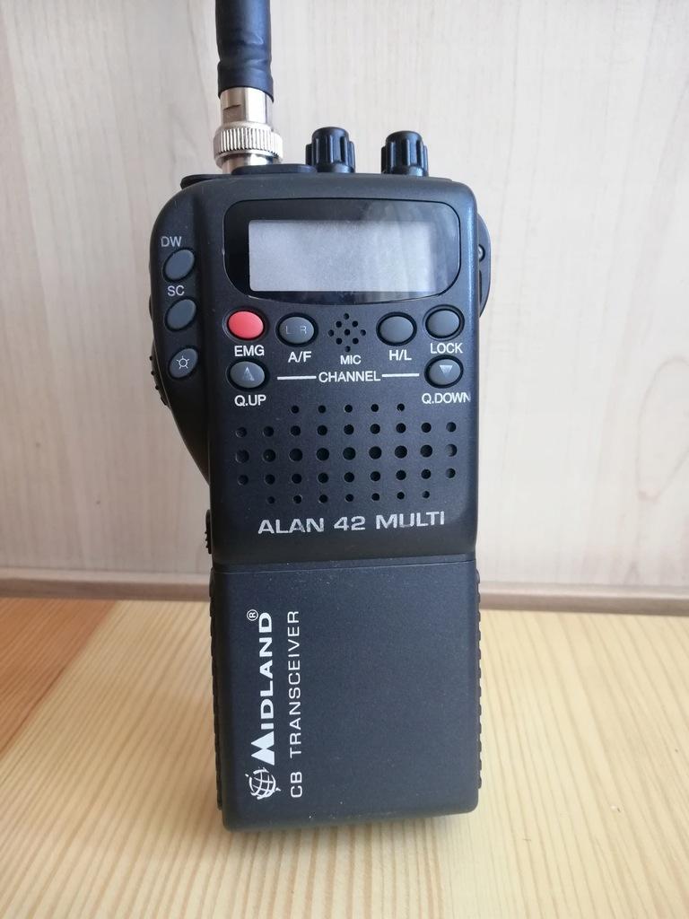 ALAN 42 CB RADIO RĘCZNE +ADAPTER DO AUTA