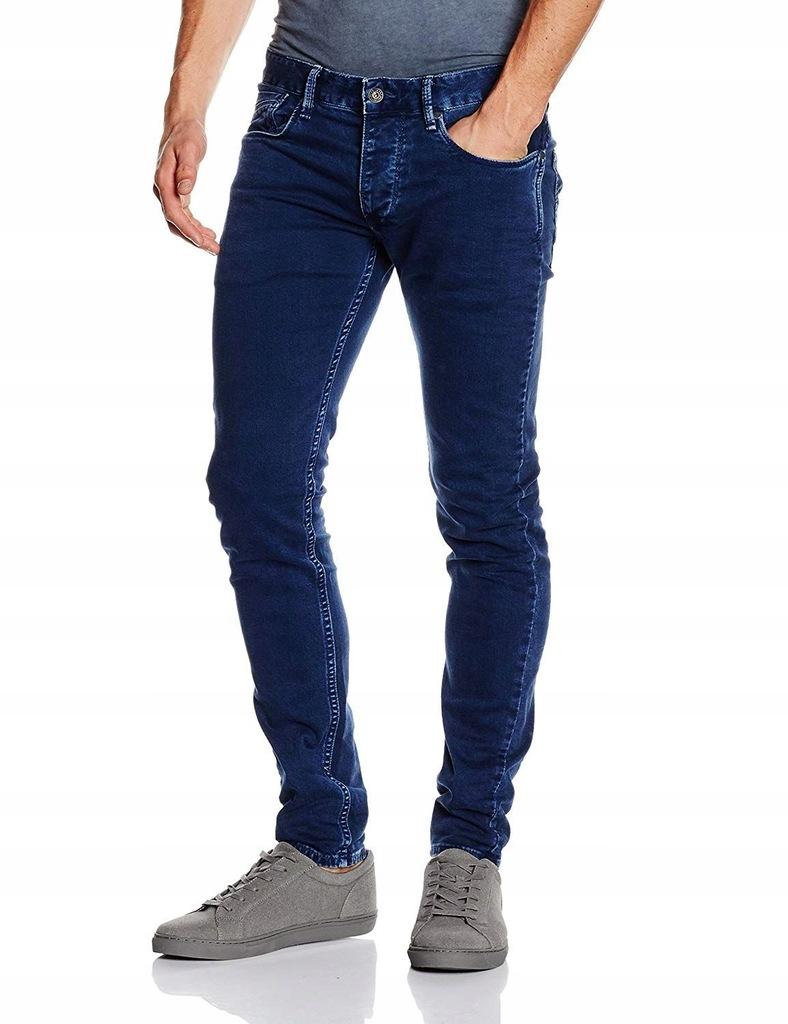 PEPE JEANS Ciemnoniebieskie jeansy SLIM FIT W30L32