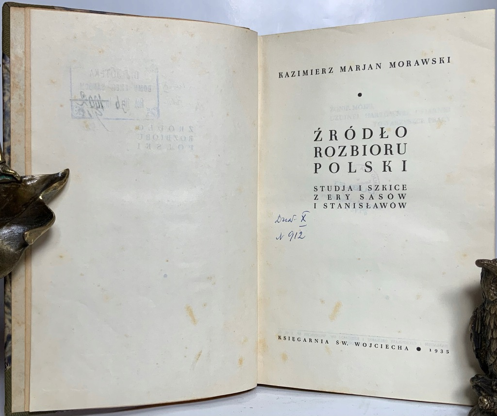 Źródło rozbioru Polski, Morawski, 1935 r.