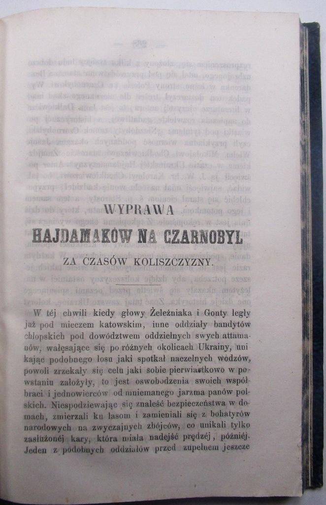 Wyprawa Hajdamaków na Czarnobyl KOLISZCZYZNA 1859