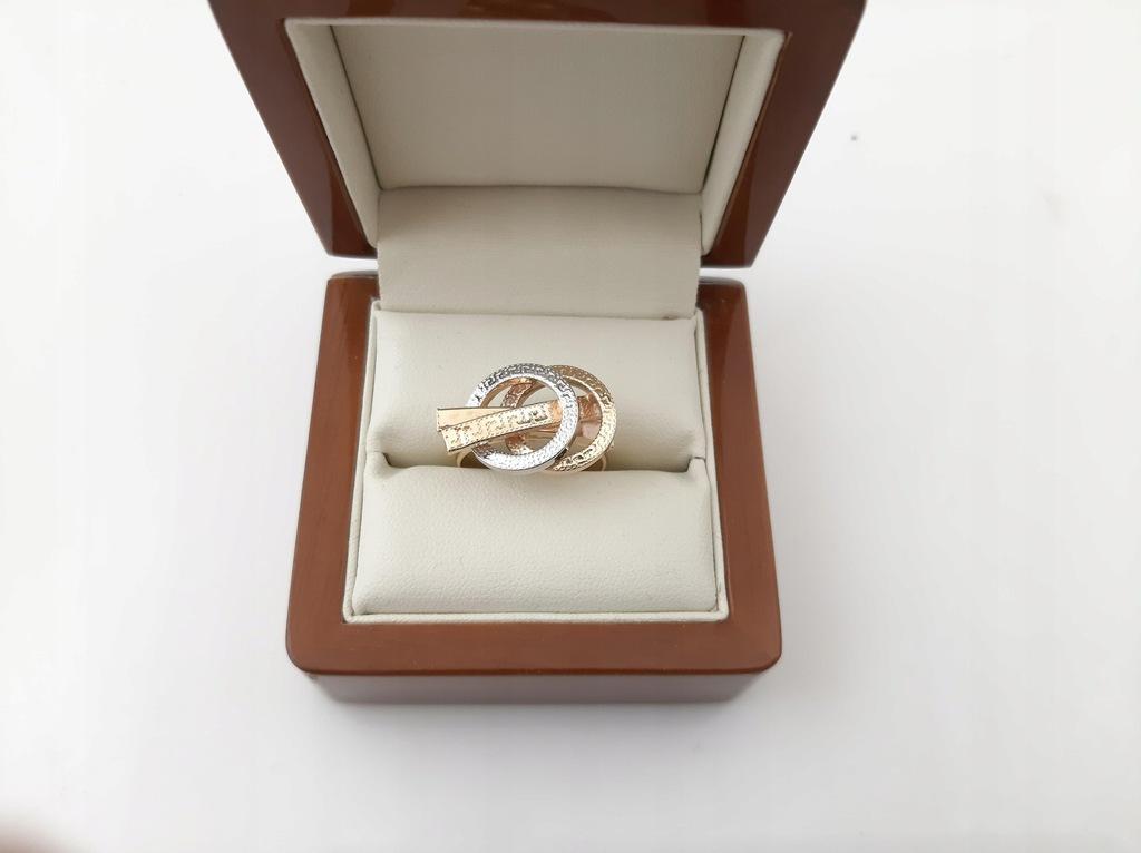 Piękny Złoty pierścionek pr.585 3.47g