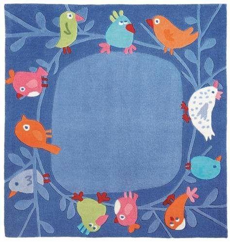 Dywan Małe Ptaki 140x140 cm