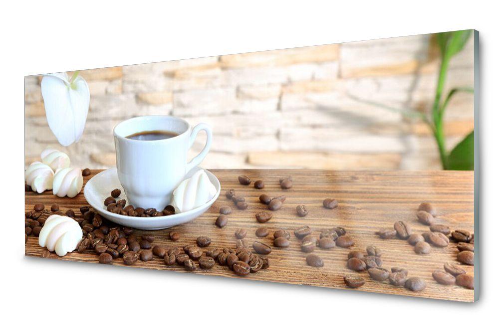 Lacobel Panel Szklany Ścienny Kawa Ziarna 120x60