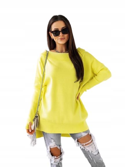 Sweter tunika COCOMORE Żółty UNI