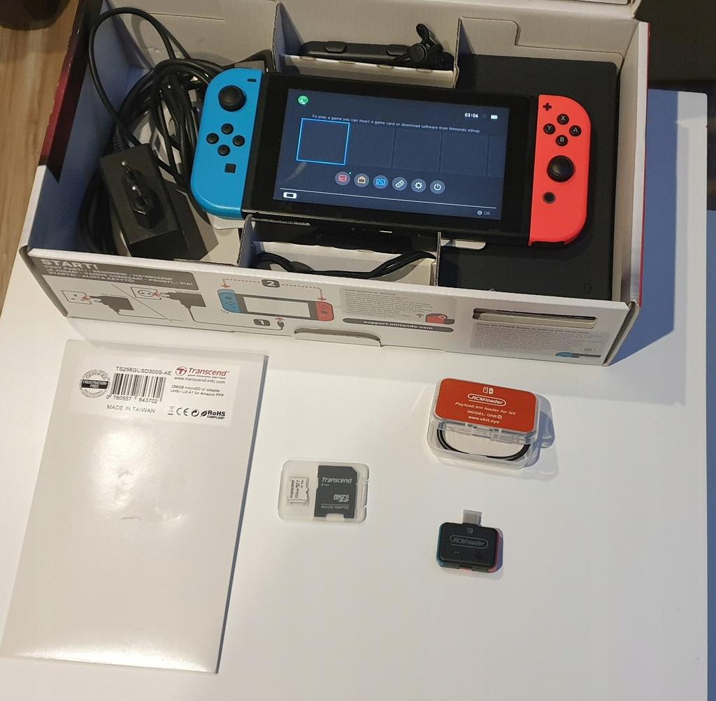 Konsola Nintendo Switch niebiesko-czerwony V1