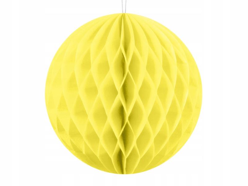 Kula bibułowa*** żółty /słomkowy ***10cm
