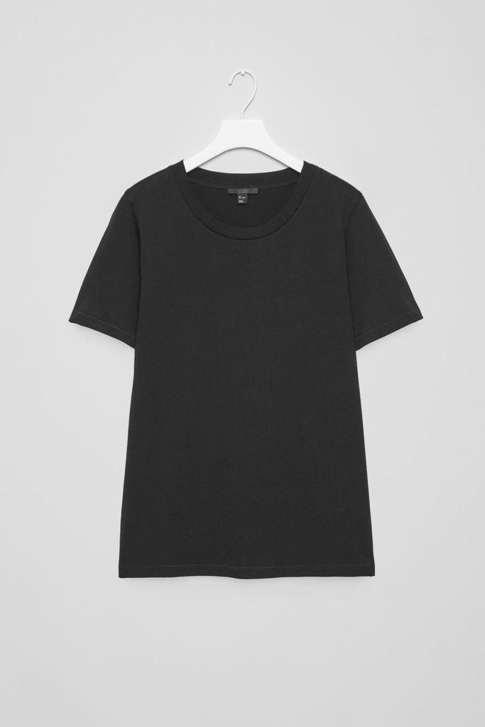 t -shirt COS czarny klasyk s bluzka koszulka