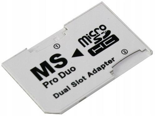 Adapter karta micro microSD - Memory Stick Pro Duo