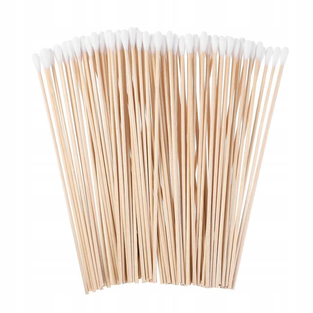 RÓŻENICE 100 Długi Drewniany Uchwyt Wacikiem Wymaz