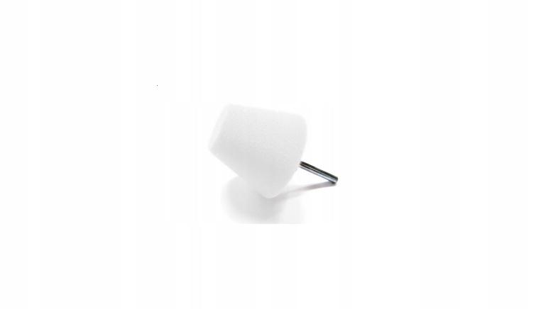 Stożek polerski 60mm twardy - biały