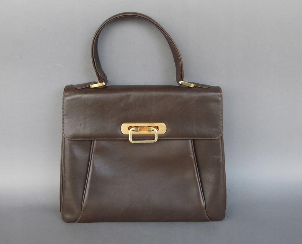 Skórzana torebka listonoszka , stara , stan bardzo dobry