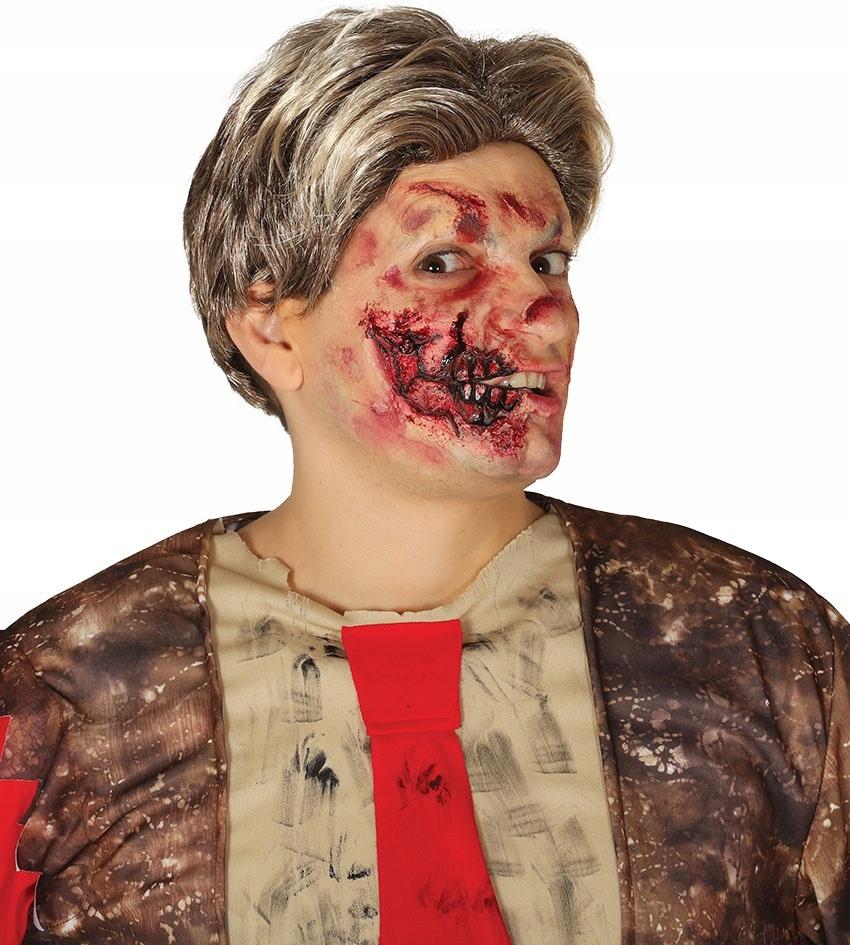 Charakteryzacja rana na pół twarzy halloween party