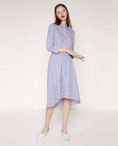 Zara sukienka koszulowa typu polo w paski