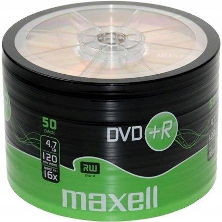 PŁYTY DVD+R 4,7GB 16X MAXELL SP50 50 SZT. SKLEP FV