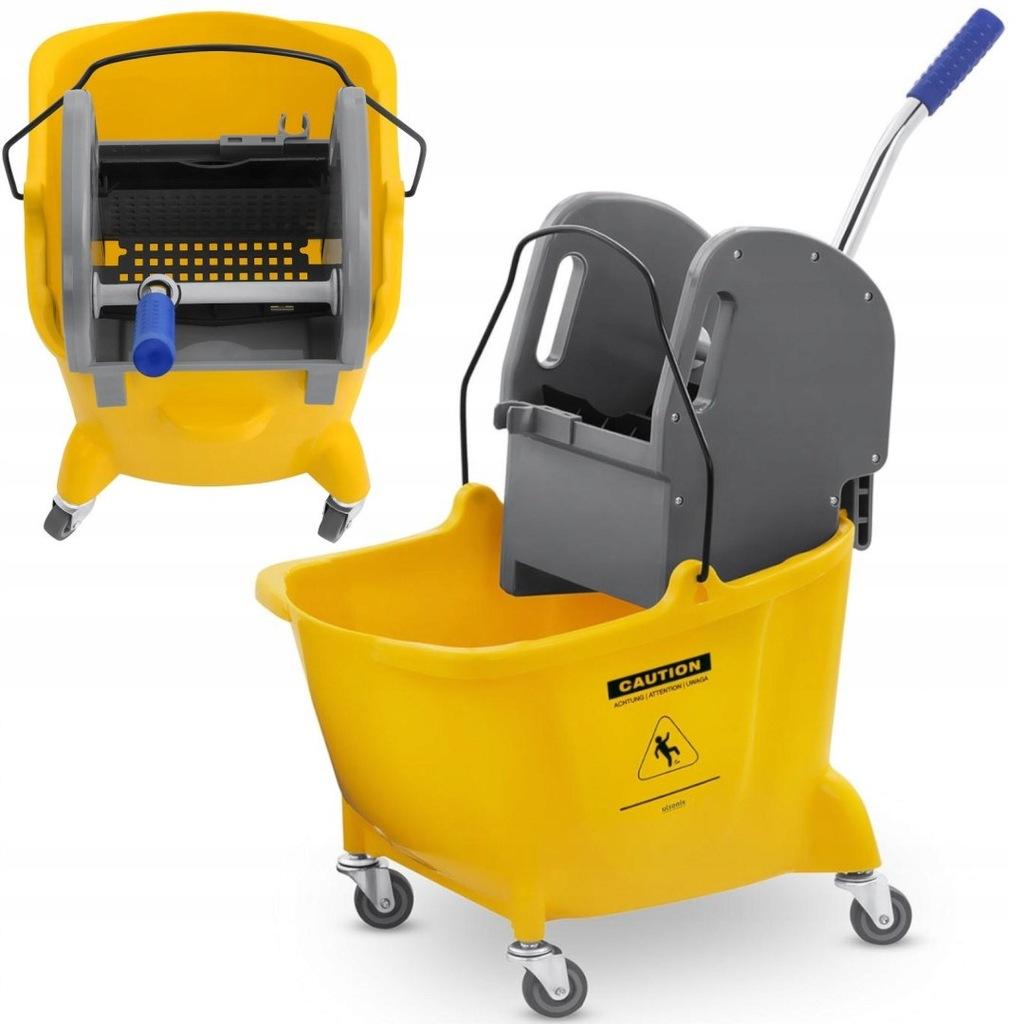Wózek do sprzątania mycia podłóg z prasą i uchwyte