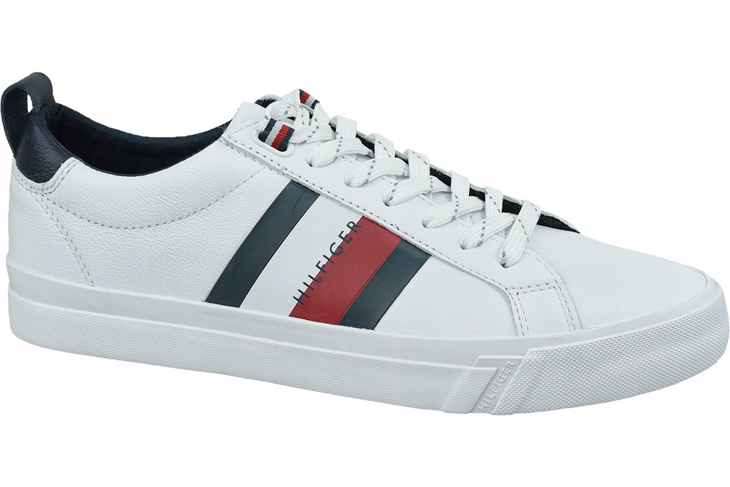 Męskie Buty TOMMY HILFIGER FLAG DETAIL LEATH ~46~