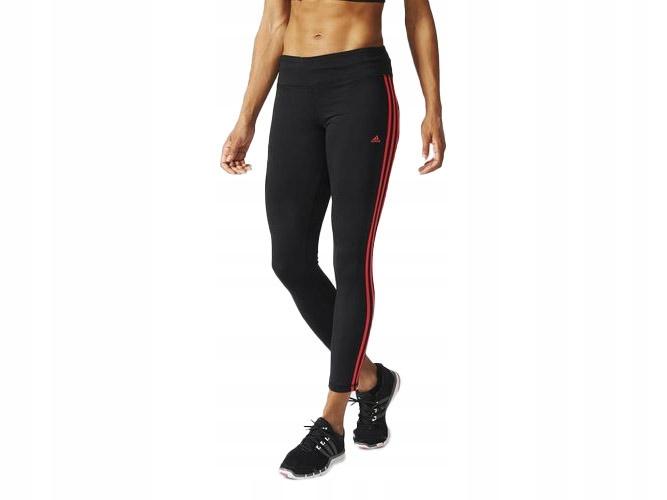 Czarne legginsy ADIDAS sportowe TRENING AJ9368