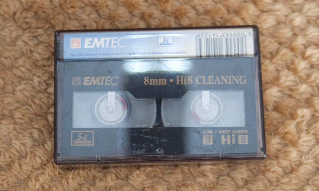 Kaseta czyszcząca video8,Hi8, Digital8_EMTEC
